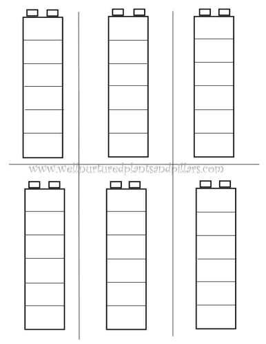Free Printable for Duplo Block Patterns #printable learning patterns.. color self