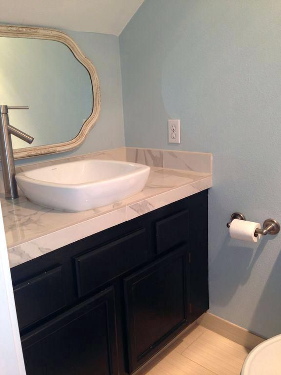 raised bathroom sinks contemporary powder room with raised panel
