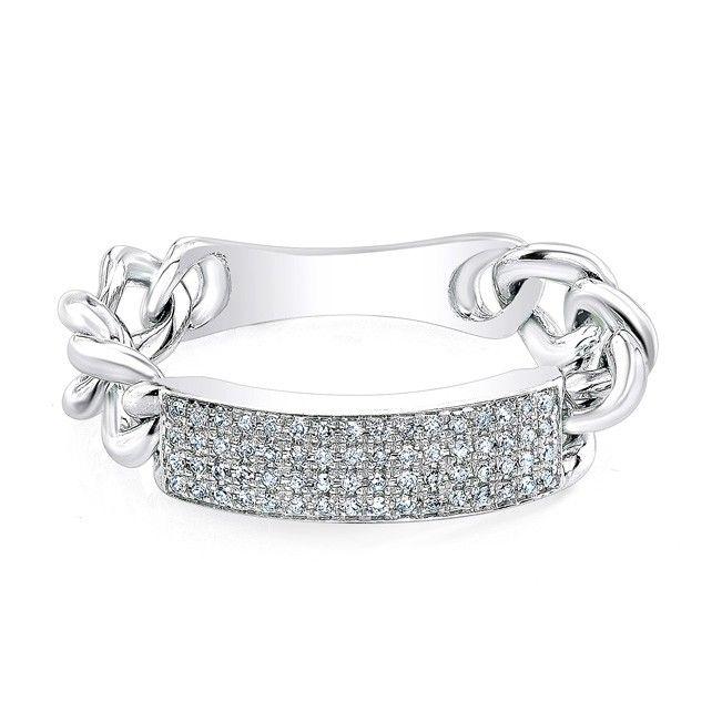 14 best ID Bracelets Rings images on Pinterest White gold