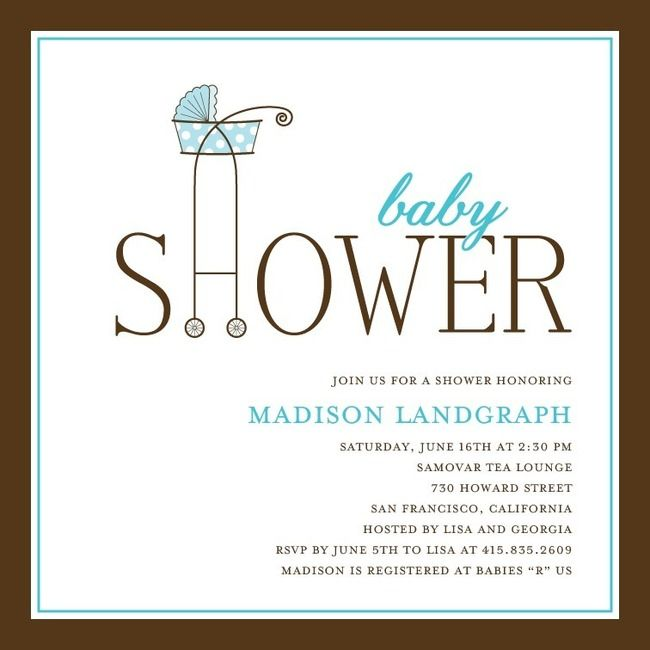 Buggy Showr Invites - Aqua & Teal