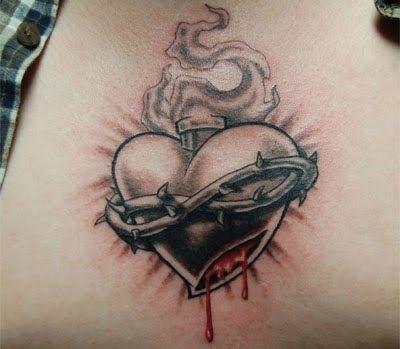 Trend Tattoos: Sacred Heart of Jesus Tattoos