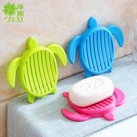 Wish   Creative Bathroom Aoap Holder Turtle Shape Soap Box Bathroom Draining Soap Box Kitchen Drainage Soap Dish kitchen Accessories #Chensanmei33#