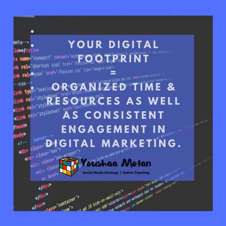 Your digital footprint is proportionate to the amount of focused and organised time resources and consistent engagement in digital marketing.  #branding101 #brandingagency #selfemployed #biz #businessidea #workfromhomedad #workfromhomemom #workfromanywhere #workfromhomelife #momboss #dadboss #mompreneur #dadpreneur #branding #contentcuration #contentcreation #contentmarketing #eventsmarketing #leadgenerationstrategy #socialmediainfluencers #twittermarketingtips #linkedmarketingsolutions…