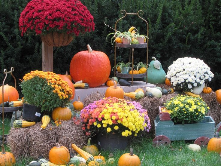 Fall Garden Decorating Ideas fabulous garden deco Fall Yard Decorating