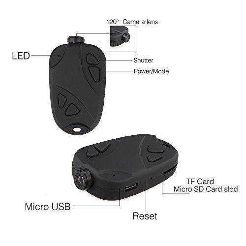 Hidden Camera Spy Cam Mate 808 Keychain Camera 1080P 120 Degree Wide Angle RC FPV Action Camera Motion Detector Activated Outdoor Camcorder
