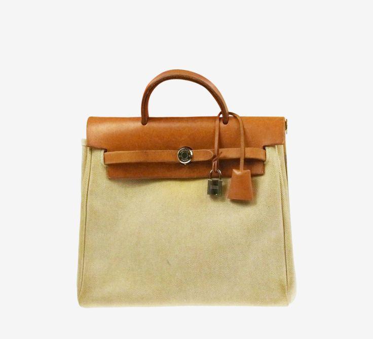 Hermès Beige / Camel Backpack   VAUNTE