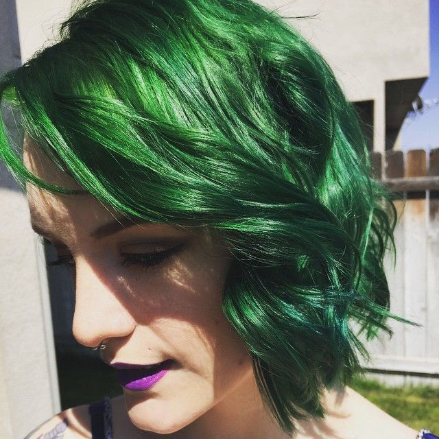 How I Dyed My Hair Green Directions Alpine Dark To Teal Blue Color Tutorial You