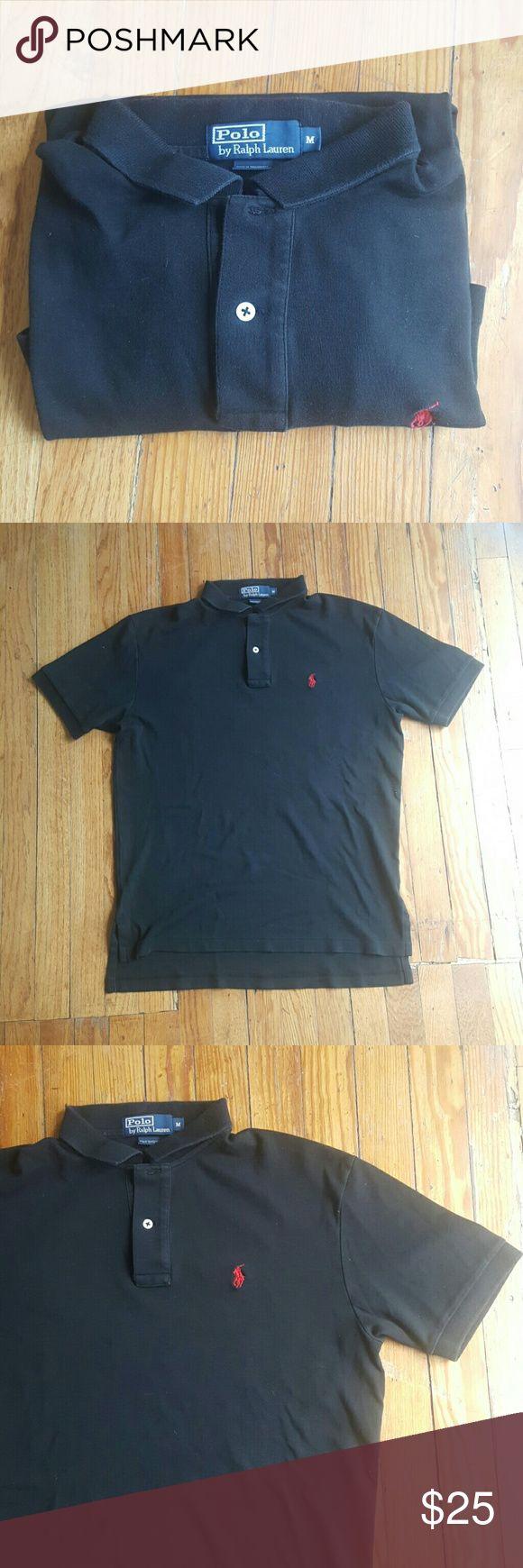 POLO BY RALPH LAUREN BLACK POLO SHIRT M POLO BY RALPH LAUREN BLACK POLO SHIRT LIKE NEW MEDIUM Polo by Ralph Lauren Shirts Polos