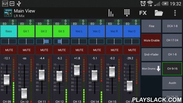 Mixing Station XM32  Android App - playslack.com ,  Control your Behringer X32 / Midas M32 mixer with your smartphone or tablet.WARNING: THIS APP DOES NOT PLAY ANY SOUND! IT'S FOR REMOTE CONTROLLING ONLY!Features:- RTA overlay in PEQ view- RTA averaging- Level timeline for gate and dynamics (pro version)- Peak hold for all meters with changeable hold time (pro version)- Peq preview in channel strip (pro version)- High contrast mode for outdoor usage (pro version)- Popgroups (pro version)…