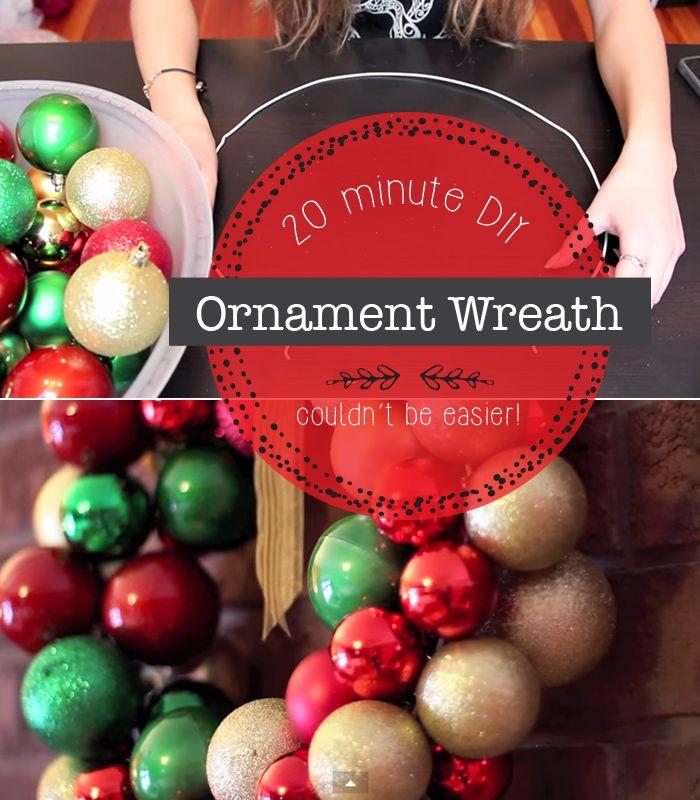 Super simple ornament wreath tutorials!