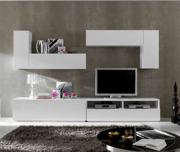 22 best tv units and media systems images on pinterest for Modern living room shelving units