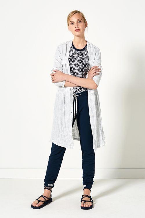 Indian Summer | Fashion | Tuniek | Grey | Top | Print | Blue | Pants | Lookbook