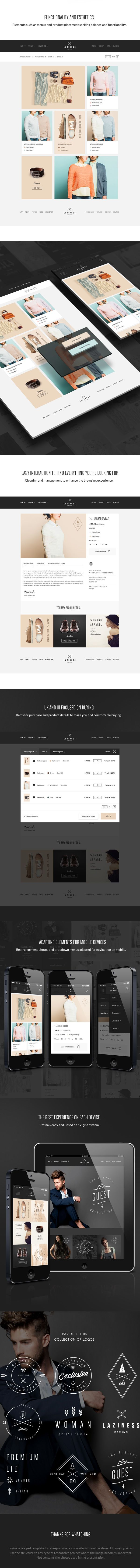 Laziness psd Theme by Julián Pascual, via Behance