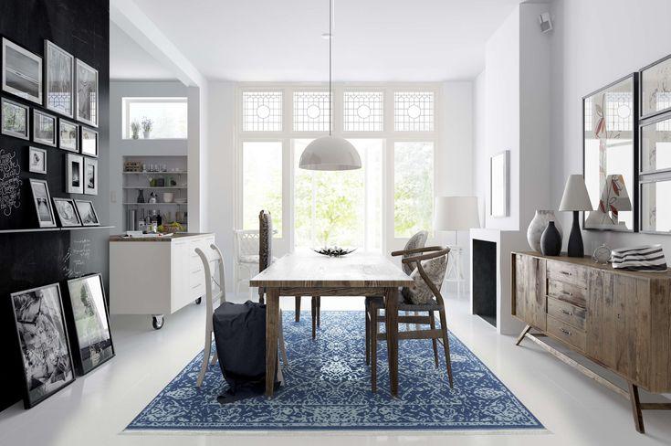 Antoinette - Blauw tapijt CVD8566
