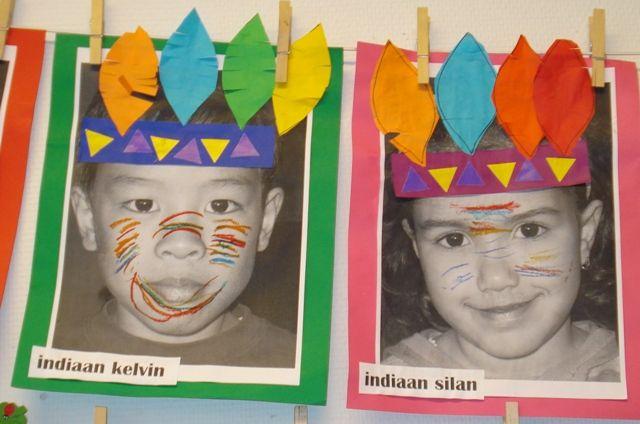Kind als indiaan Juf Joyce