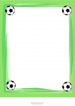 Soccer World Cup Writing Paper  #Soccer #Education #Template #Worksheet #Printable