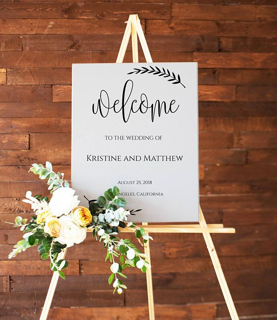 Wedding Poster Board Welcome Sign Wedding Printable Wedding Weddingwelcomesign Printablewedding Printable Wedding Sign Wedding Signs Wedding Posters