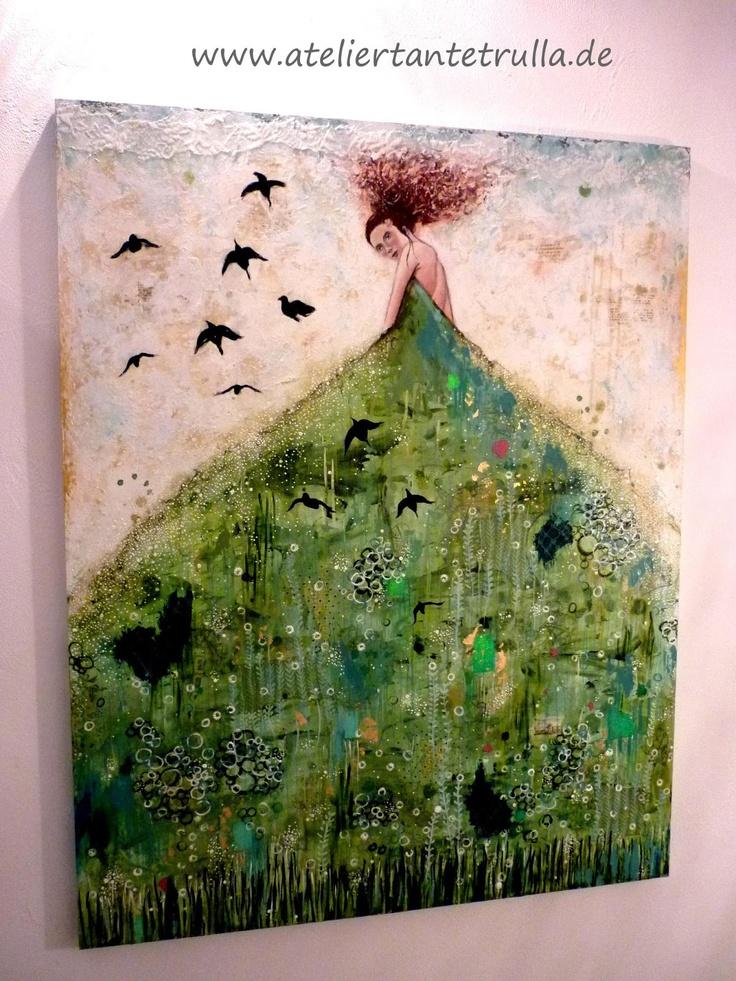 "Atelier Tante Trulla: Moderne Malerei - Gemälde ""Elaine"""