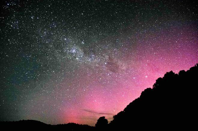 Aurora australis from Stewart Island