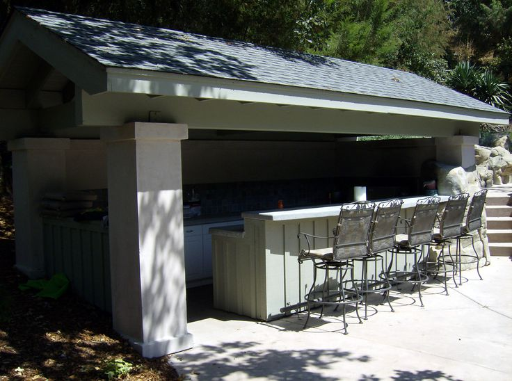 10 best images about outdoor kitchens on pinterest for Outdoor kitchen roof structures