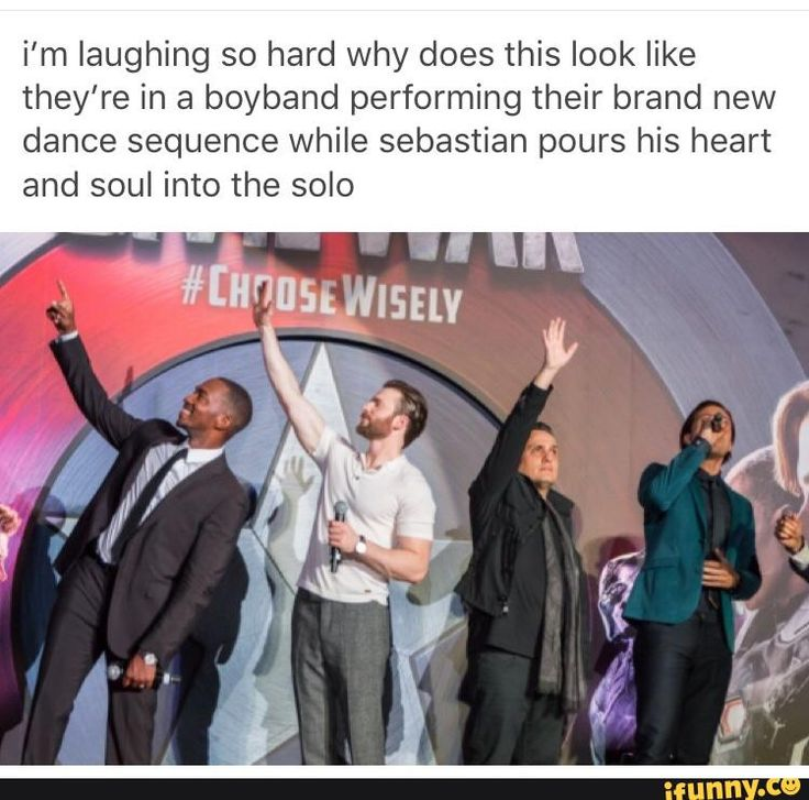 Team Cap is secretly in a band and Bucky is surprisingly a terrific singer<<<accurate of the cast as well as funny
