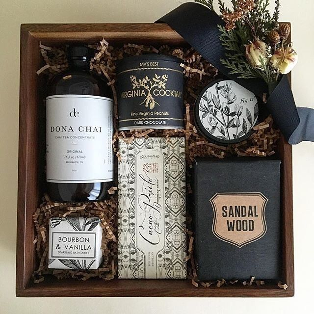 Corporate Gifts Ideas     Sophisticated box of goodies from @lovedandfoundbox #f...
