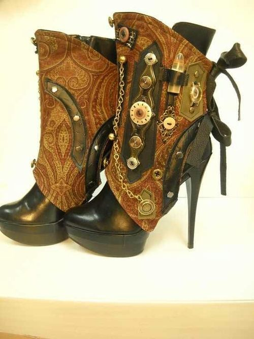 Steampunk boots | We Heart It
