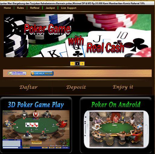 padipoker.com adalah tempat atau penyedia permainan texas poker secara real money, minimal deposit Rp. 50.000,- Support Bank Mandiri, BCA, BNI, BRI, dan Bank Danamon – RAJAGAME