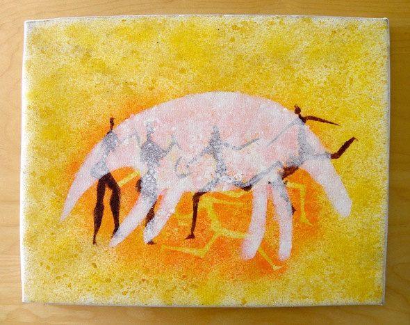 Pangolin Hunters San Art - Acrylic Painting Artwork by Hadeda on Etsy