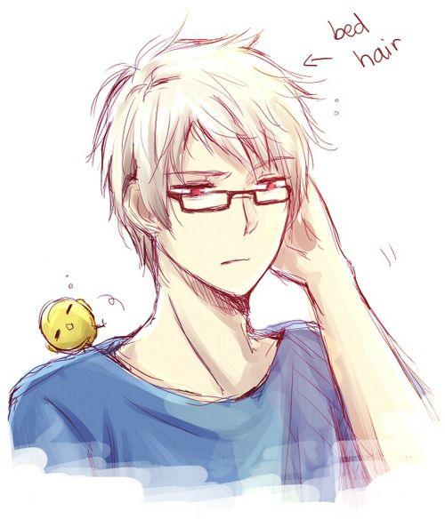 Sketch of Gilbert - Art by kuraramarble.tumblr.com  Gilbert in glasses is what fuels my life
