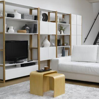 Étagère-bibliothèque de rangement AKLY, La Redoute - Pour notre salon
