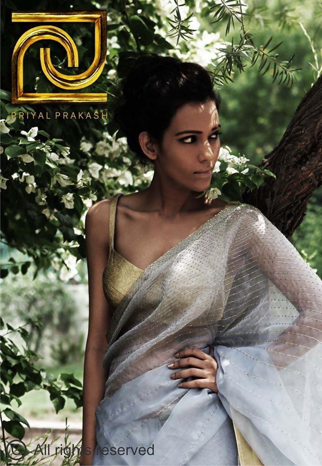 Priyal Prakash #saree #sari #blouse #indian #outfit #shaadi #bridal #fashion #style #desi #designer #wedding #gorgeous #beautiful