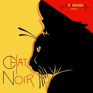 modernized (from iconic) Chat Noir poster 2012