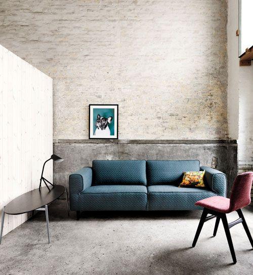 Acco Sofa In Beautiful Moss Fabric