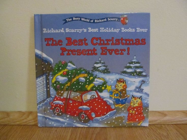 The Best Christmas Present Ever! by Richard Scarry (1999, Hardcover) Busy World