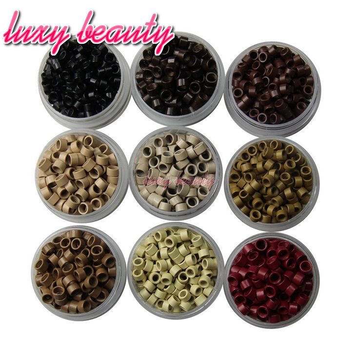 Micro Screws Rings Beads 4.5X3.0mm Micro Links Beads 9 Kinds Of Color Can Choose Use For Cold Fusion Hair Extensions I Tip Hair