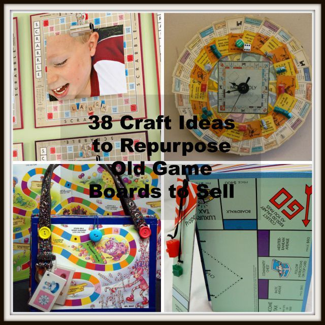 38 Craft Ideas to Repurpose Old Game Boards to Sell - http://www.bigdiyideas.com/38-craft-ideas-to-repurpose-old-game-boards-to-sell/         (adsbygoogle = window.adsbygoogle || []).push();      If you're like most of us, you have at least a couple of old board games on a shelf somewhere. Board games are a fun way to bring family and friends together. But did you know that they also can be repurposed –...