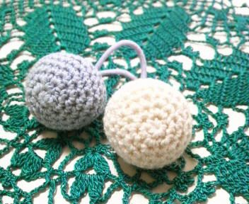編み玉のヘアゴム♪の作り方|編み物|編み物・手芸・ソーイング|ハンドメイドカテゴリ|ハンドメイド、手作り作品の作り方ならアトリエ