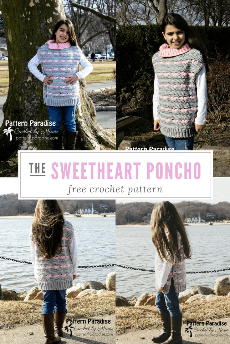 181 best PONCHOS images on Pinterest | Crochet clothes, Crochet free ...