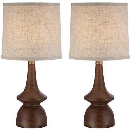 Southwestern Midcentury Walnut Table Lamps