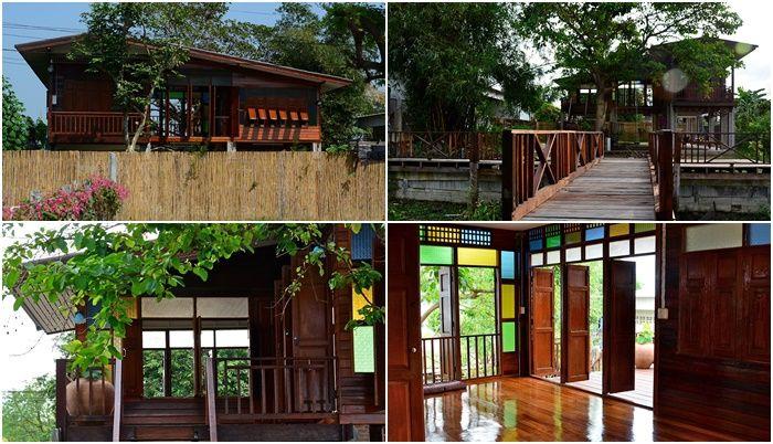 บ านส ร อน แบบบ านไม ยกใต ถ นส ง หน าต างรอบบ านเป ดร บลม และกระจกส สวยงาม House Design House In The Woods Thai House