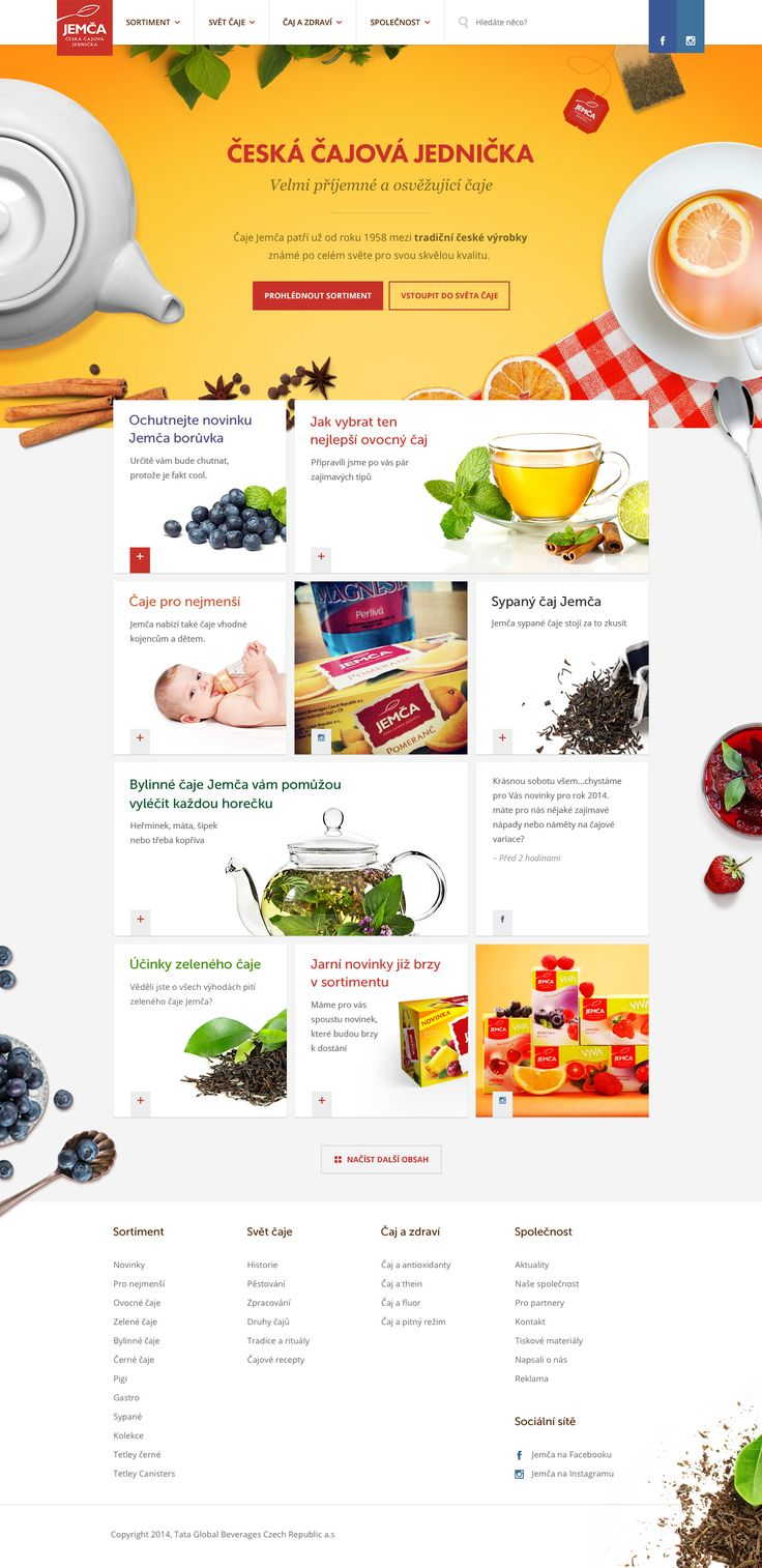 Jemca Tea Homepage by Ales Nesetril