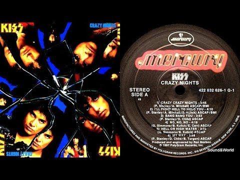 Kiss – Crazy Nights (Vinyl, LP, Album) 1987.