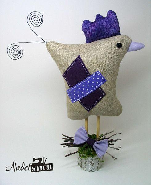 Osterdeko - Huhn im Tilda Stil für Ostern & Frühling - ein Designerstück von Frances-Hofmann bei DaWanda