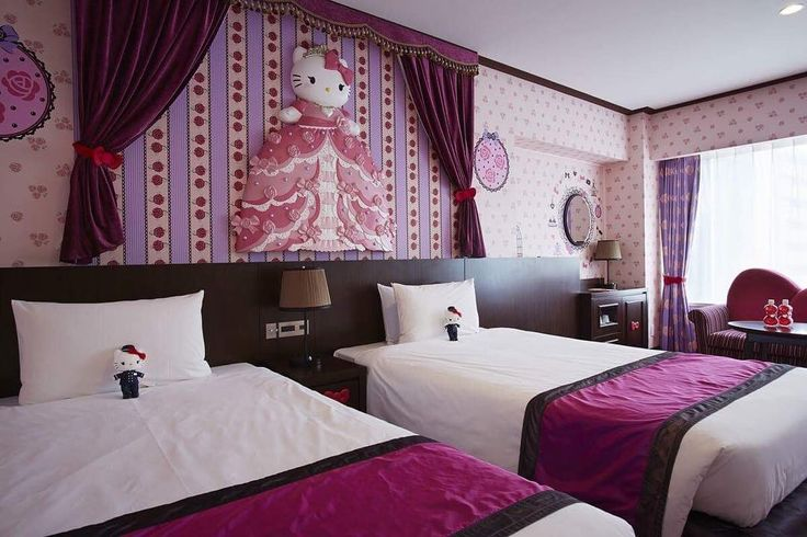 Dreams do come true!!! Get the full Hello Kitty experience at the Keio Plaza Hotel in Tokyo! You'll deff wake up feeling like a princess!