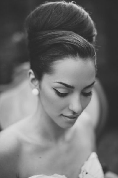Southern beehive wedding updo: http://www.stylemepretty.com/georgia-weddings/savannah/2014/10/14/simply-southern-savannah-inspiration-shoot-at-the-davenport-museum/ | Photography: Mackensey Alexander - http://mackenseyalexander.com/