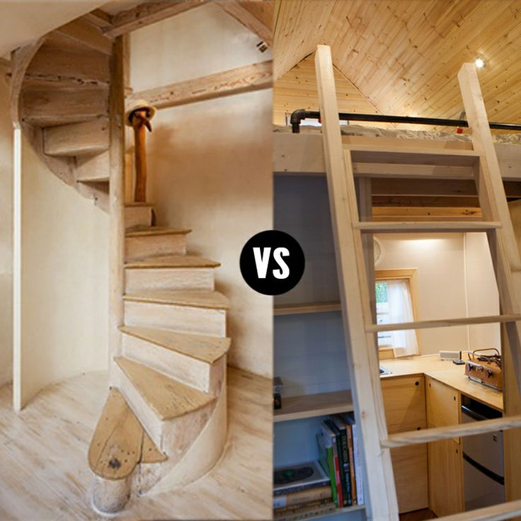 Tiny House Stairs / Stairs Or Ladder To The Loft? This Is A Big Question