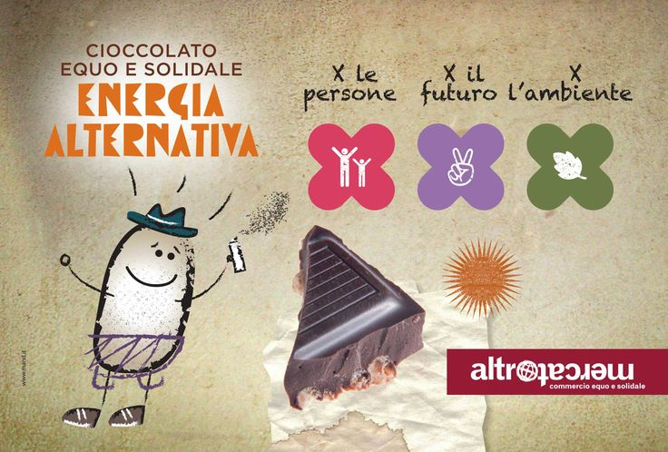 Dal 12 al 26 ottobre, nelle Botteghe Altromercato aderenti, torna #Equopertutti e Altromercato dedica due settimane a uno dei suoi prodotti simbolo: il cioccolato equosolidale. Perché quando il seme è giusto il cioccolato è ancora più buono. www.equopertutti.it