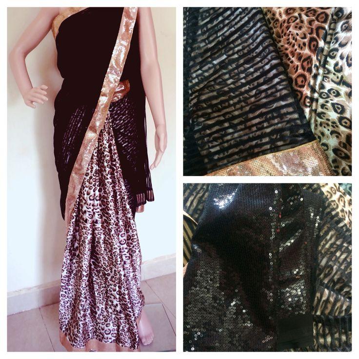 Animal print satin and net saree  Animal Print black net saree  No COD ❌ Bank transfer only✅ DM for price   #saree #sareelover #Ethniclover #Cotton #Designer #ethnic #nimeetelegance #Instock
