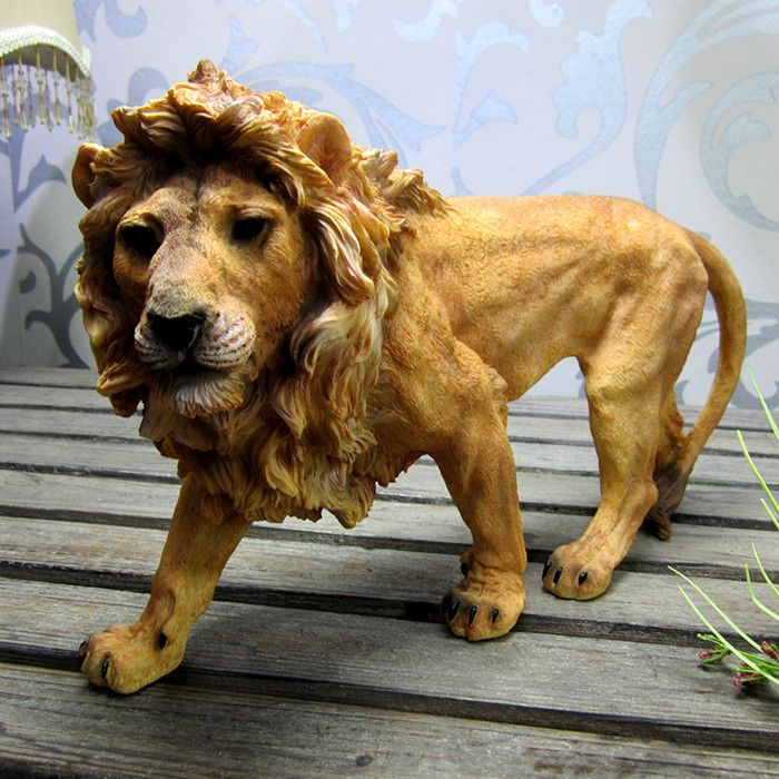 Resin Lion Statue Figurine Resin Crafts Manufacturer in China  sales@xjycrafts.com